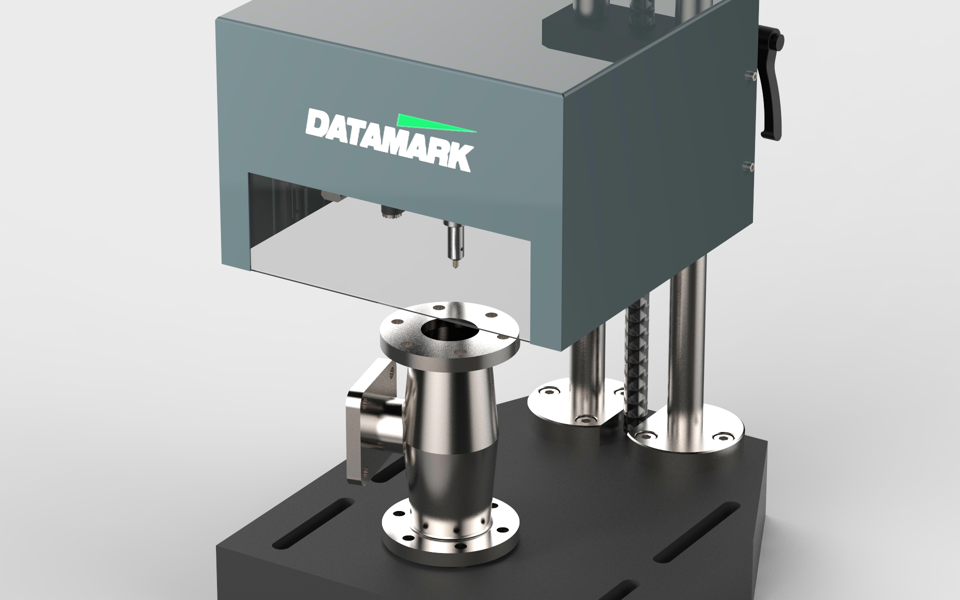 Table-top marking machine for permanent identification marking