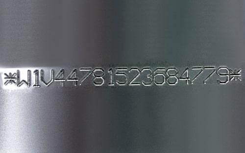 Marcado de numeraciones y códigos VIN para identificación de chasis y bastidores