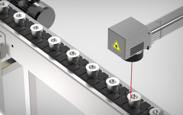 Fiber Laser for automatic marking in metal