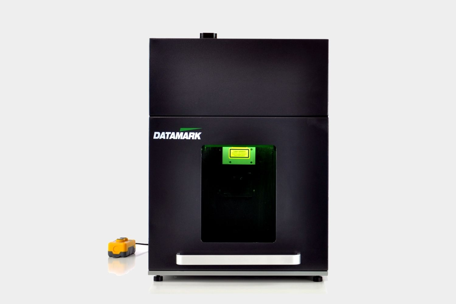 Enclosured laser marking workstation