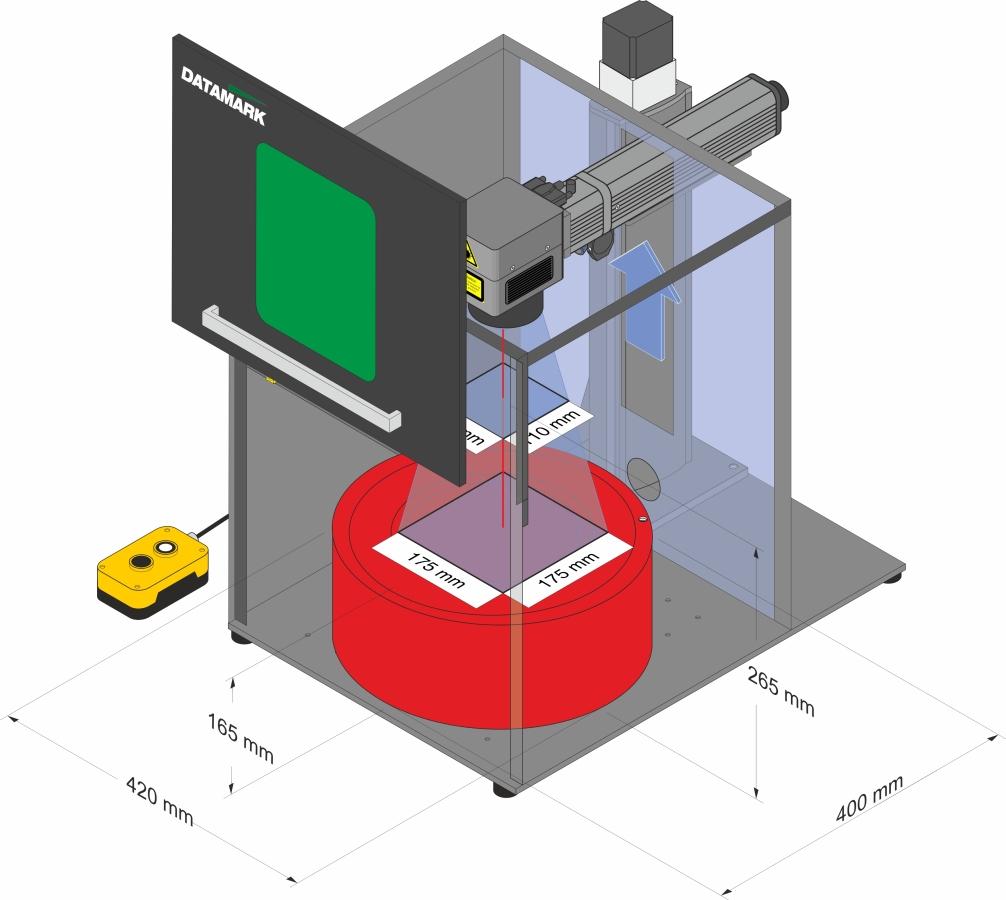 Laser marking enclosure