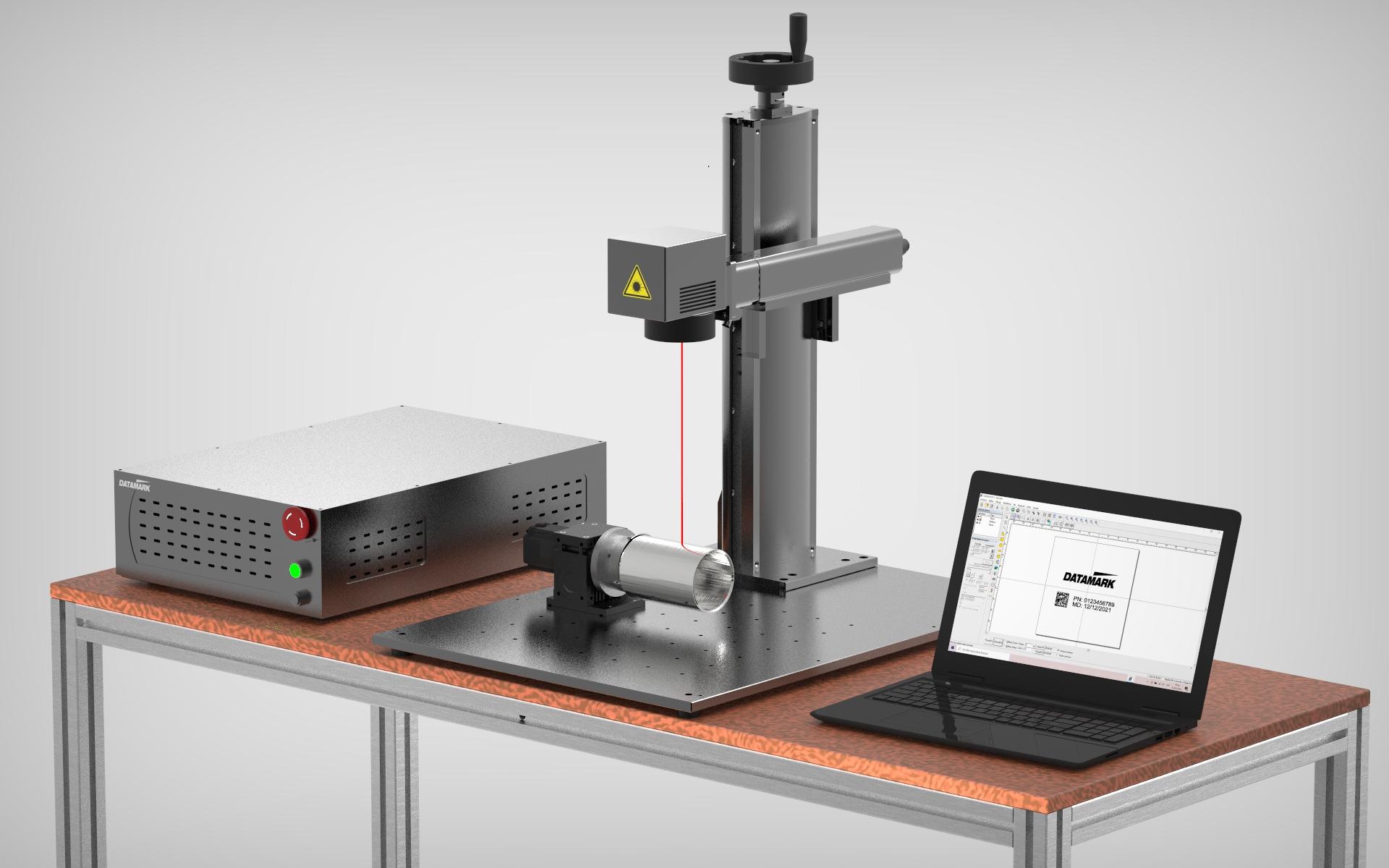 Benchtop laser marking system