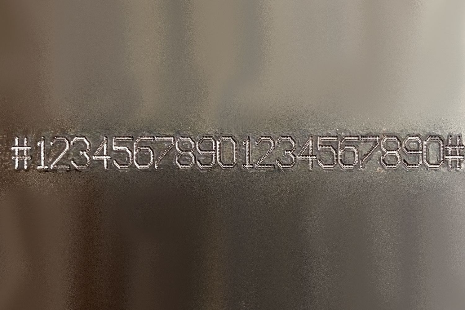 Large numbers dot pin marking